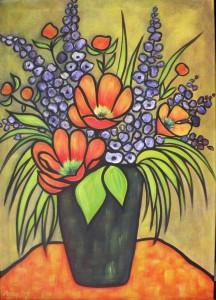 Bouquet: 70x50cm dans Acrylique 2013 bouquet-70x50cm-216x300